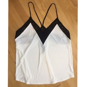 Black and White Lace Express Top